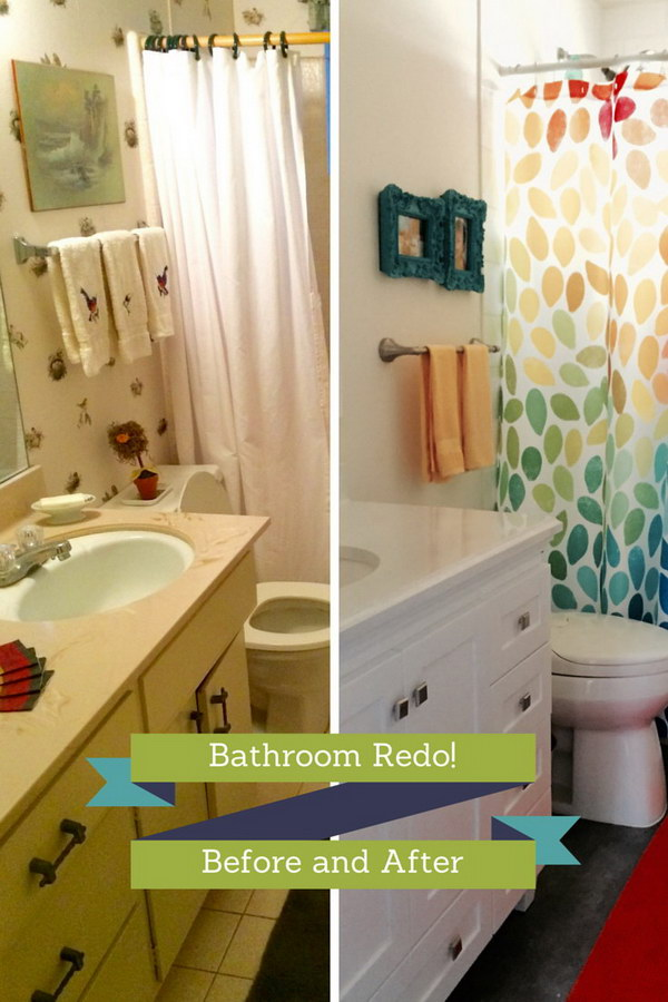 Before and after 20 amazing bathroom makeovers noted list Cheap bathroom remodel before and after