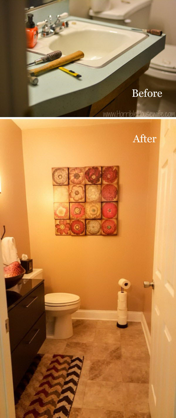 From Retro To Welcoming Bathroom Remodel.