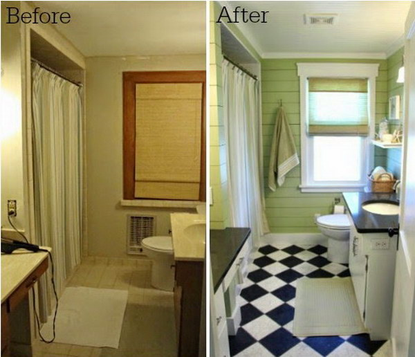 DIY Bathroom Makeover on a Budget.