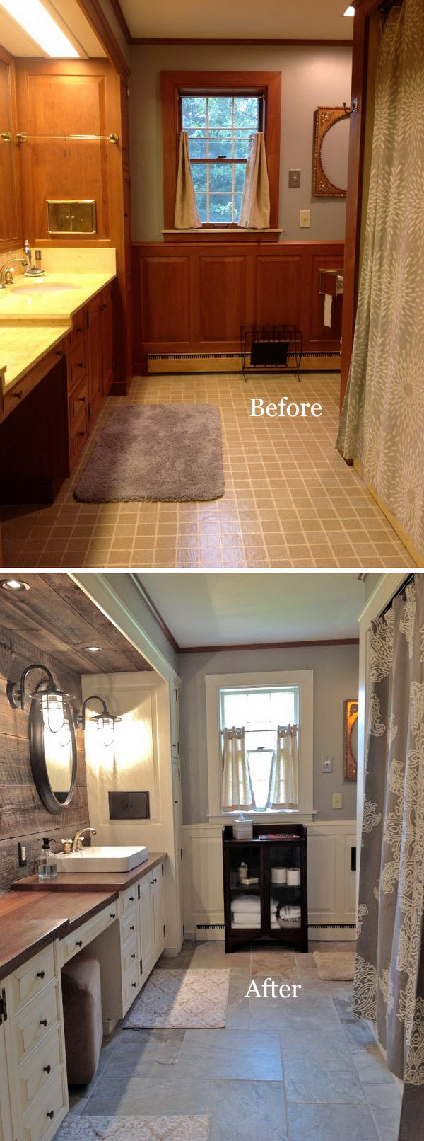 Farmhouse Bathroom Remodel.