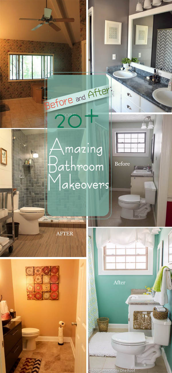 Before and After: 20+ Amazing Bathroom Makeovers.