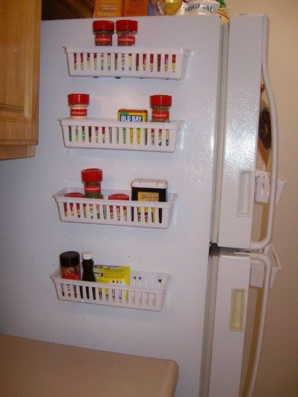 Magnetic Spice Rack For Refrigerator.