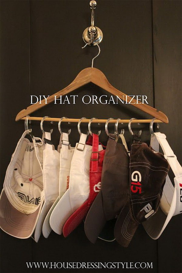 DIY Hat Organizer.