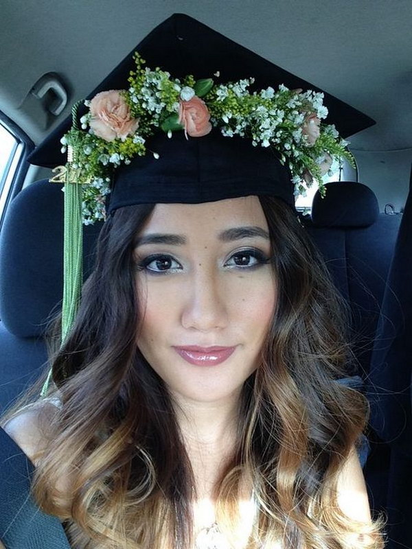 Flower Crown Graduation Cap