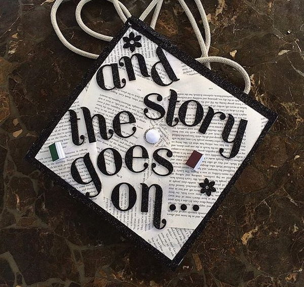 And The Story Goes On Bookpage Graduation Cap