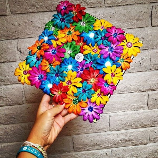 Stunning Floral Decorated Graduation Cap