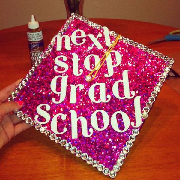 Shimmery Pink Graduation Cap