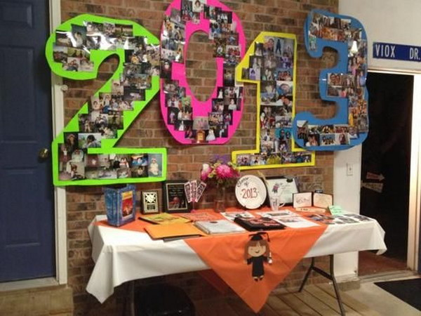 Graduation Party Year Numbers Decoration.