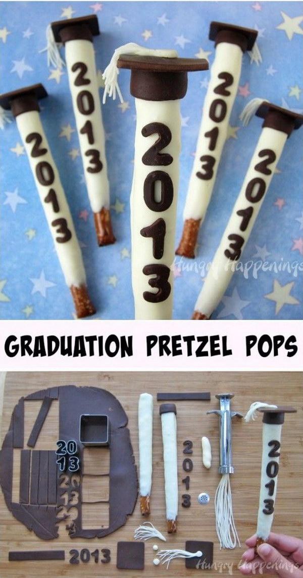 Personalize Pretzel Pops For All Of Your Graduates.
