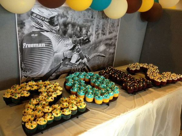Graduation Dessert Table With Cupcakes.
