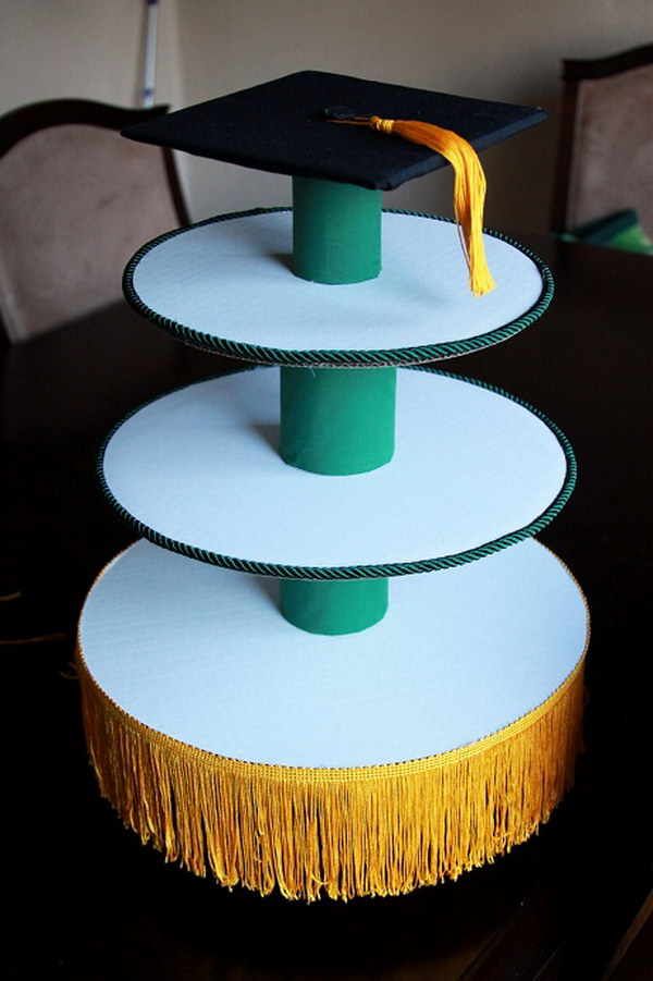 50 creative graduration party ideas noted list for How to make a cake stand