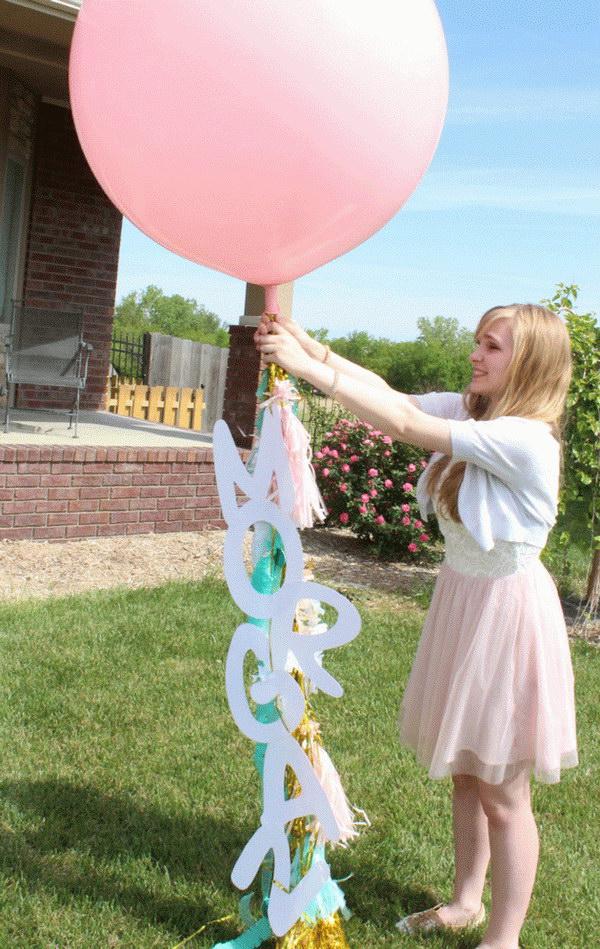 Balloon Graduation Decor.