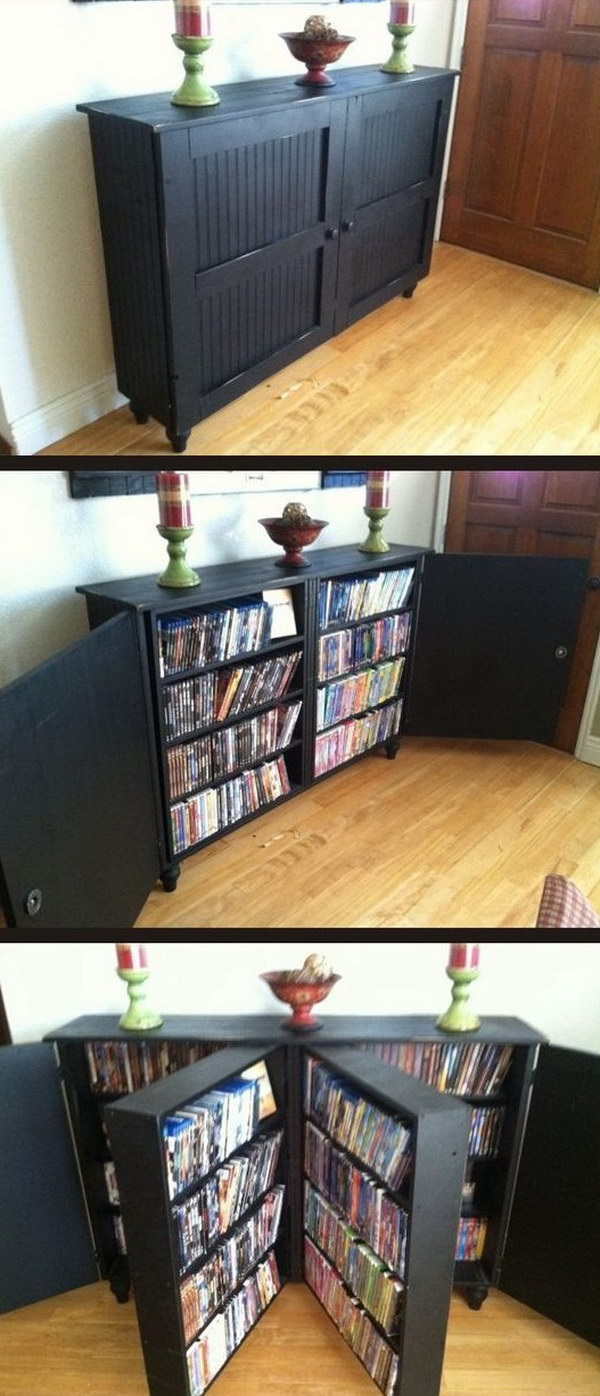 Custom Built DVD Cabinet.