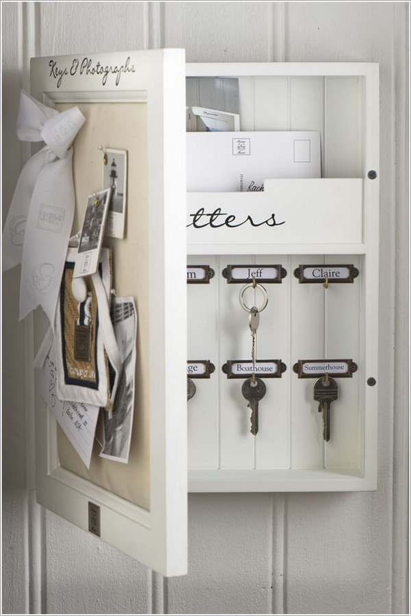 25 creative hidden storage ideas for small spaces noted list - Bathroom mirror with hidden storage ...