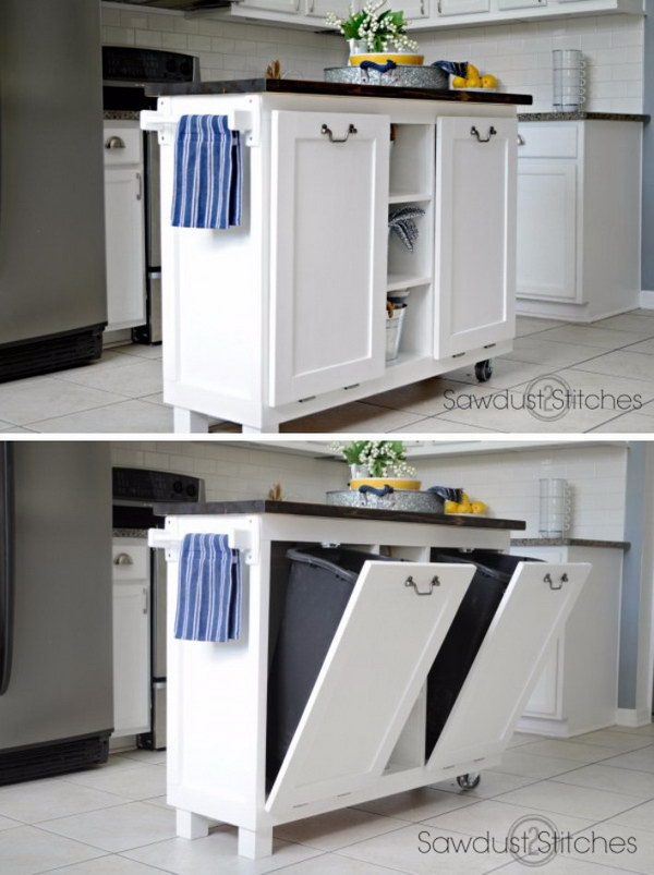25 creative hidden storage ideas for small spaces noted list for Hidden kitchen storage ideas