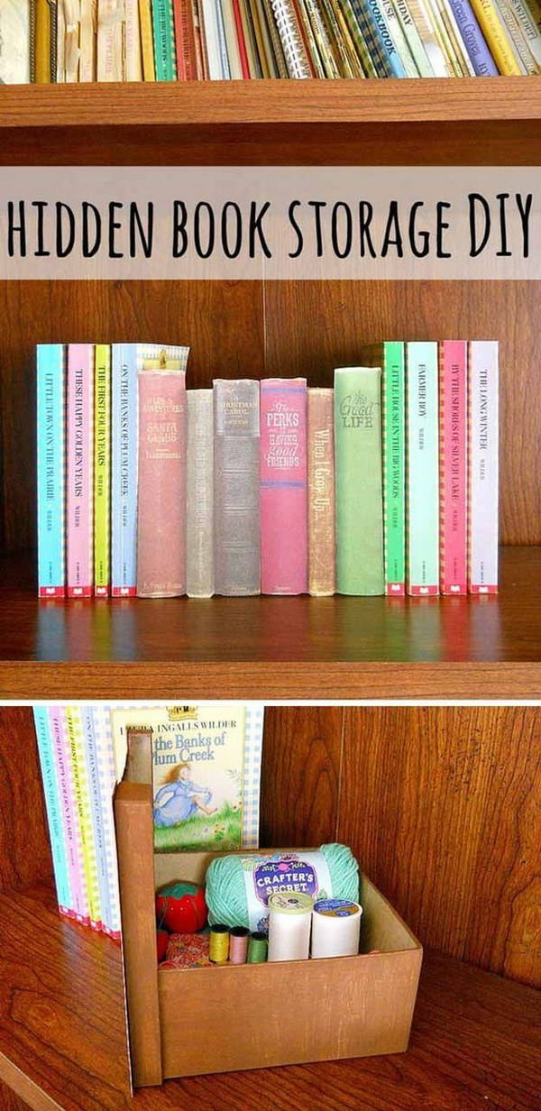 25 creative hidden storage ideas for small spaces noted list for Hidden storage ideas