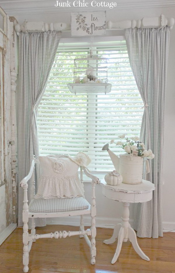 Shabby Chic Window Treatment.