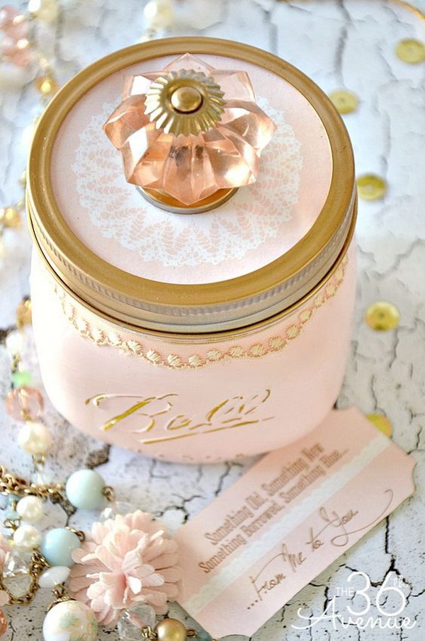 DIY Shabby Chic Mason Jar