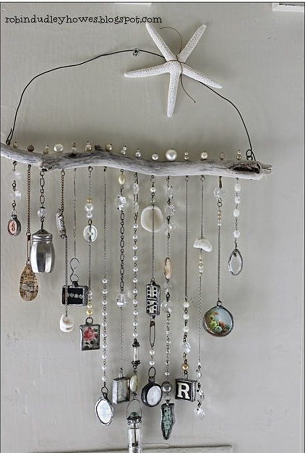 DIY Driftwood Wind Chime.