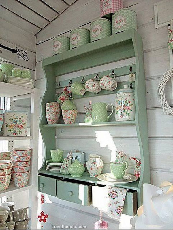 Shabby Chic Kitchen Shelf.