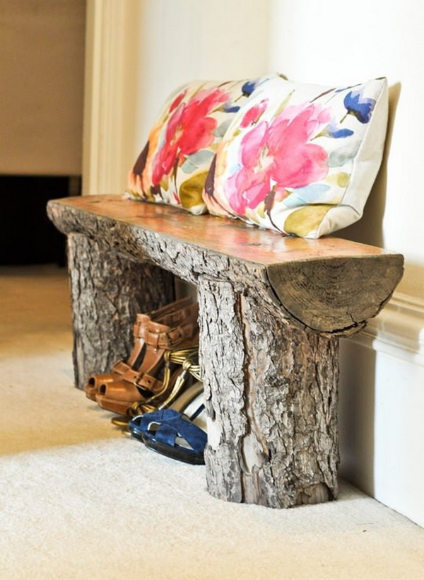 Salvaged Tree Bench.
