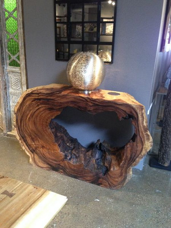 Wood Console Table.