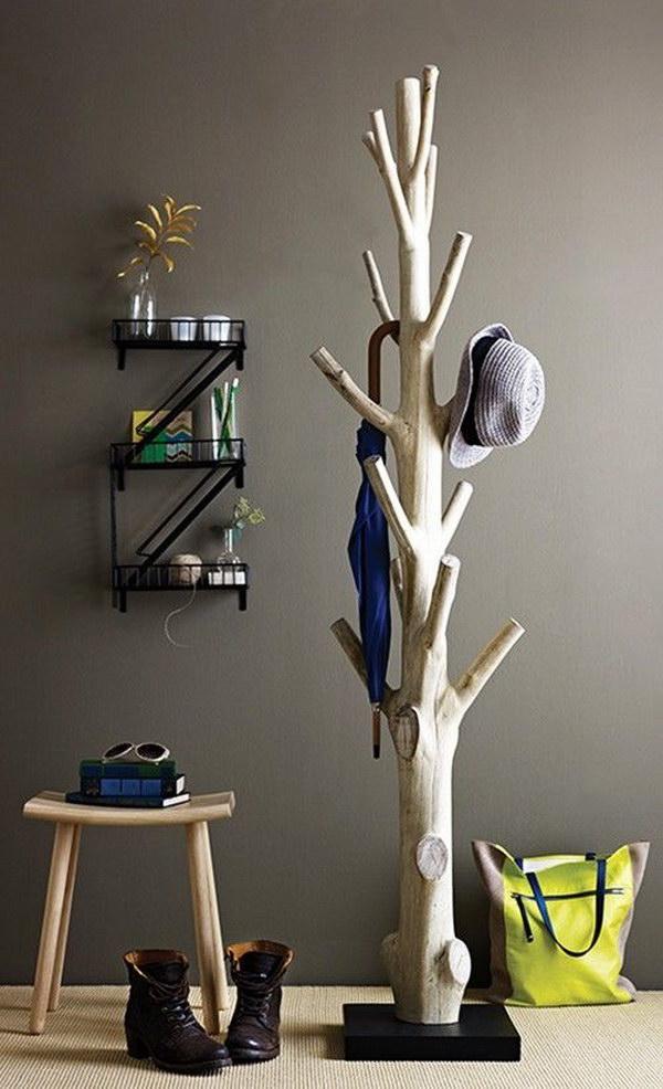 DIY Branch Coat Rack.