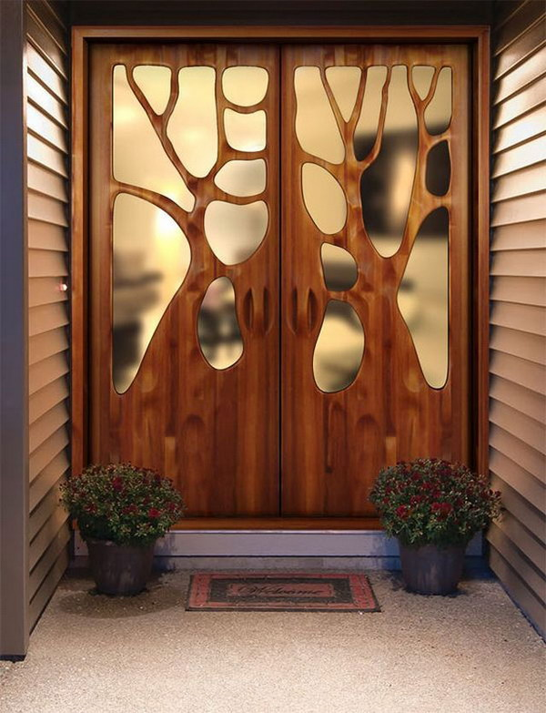 Amazing Tree Branches Inspired Door.