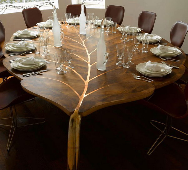 Beautiful Leaf Shaped Table.