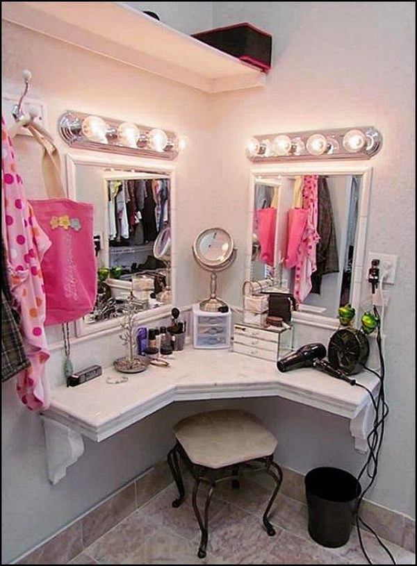 16 makeup vanity ideas