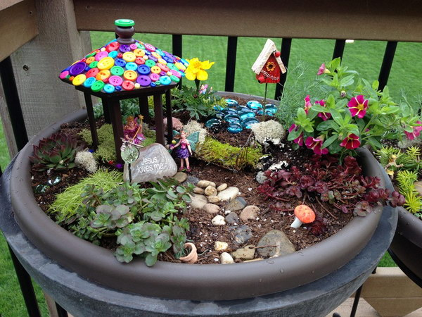 Fairy Garden In Your Backyard Pots