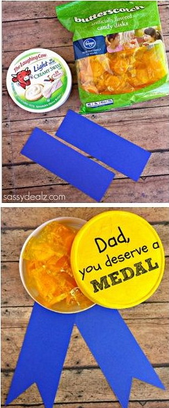 DIY Gold Metal Father's Day Gift