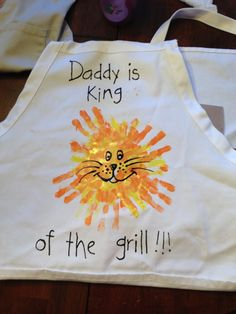 Father's Day Handprint Grill Apron