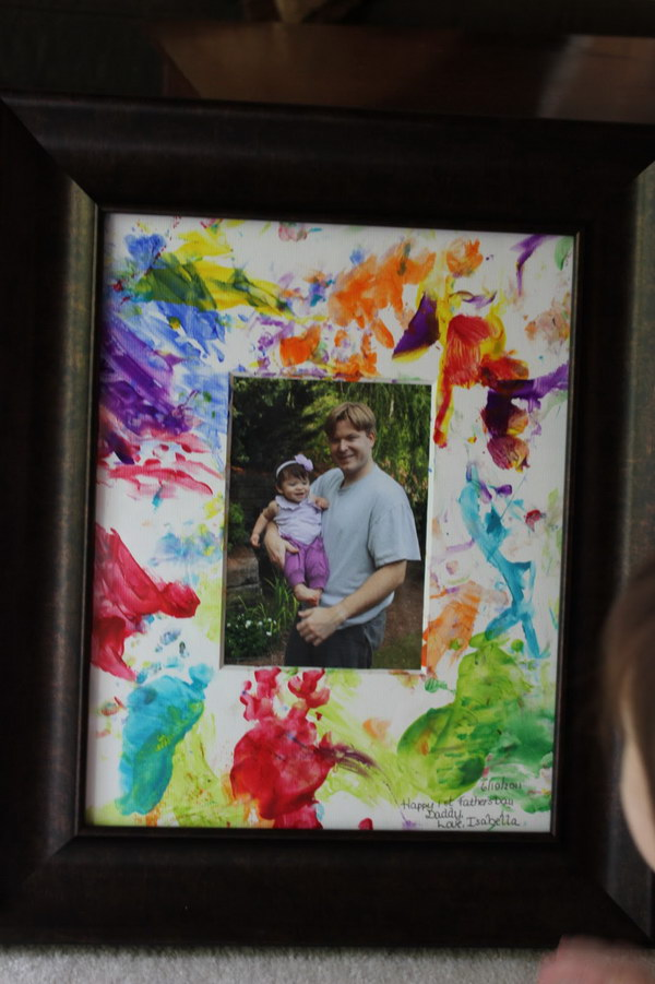 Father's Day Finger Painted Picture from Toddlers