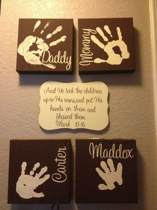Father's Day Family Handprints