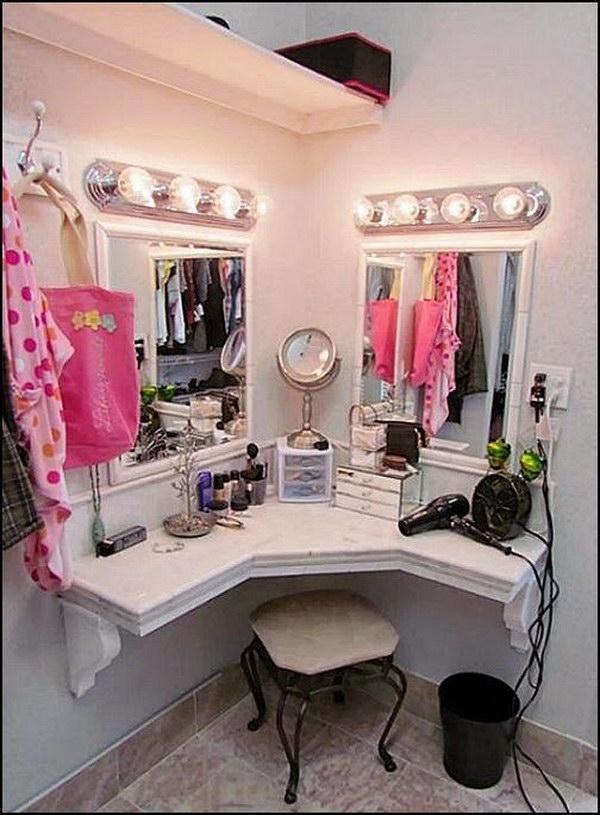 Corner Vanity
