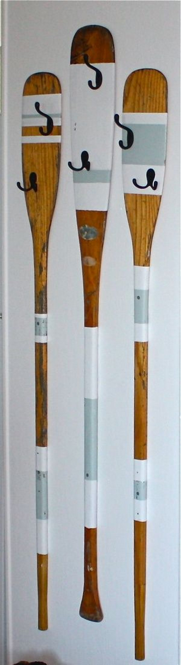Upcycled Rowing Oars Coat Hangers