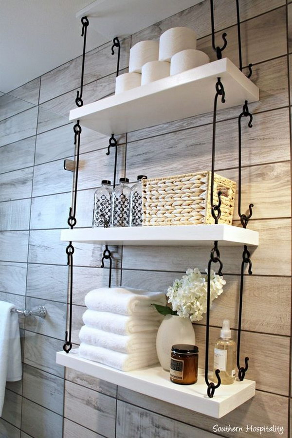 Hook Connected Hanging Shelving