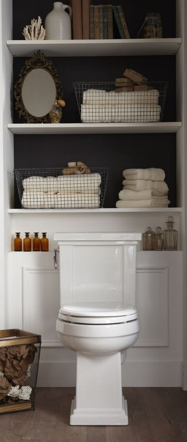 Cabinet Storage Over The Toilet.