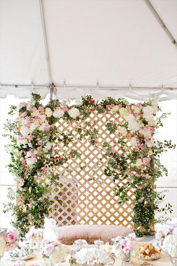 Floral Lattice Backdrop