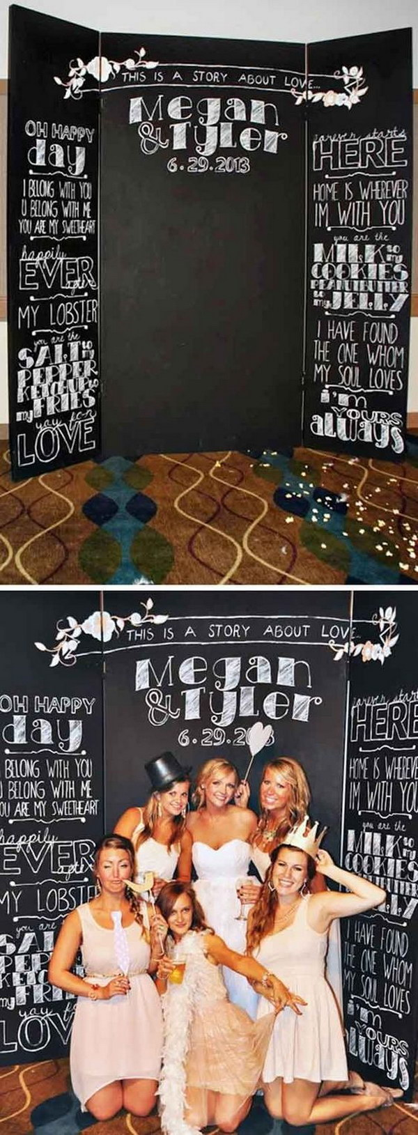 DIY Chalkboard Backdrop For Photo Booth