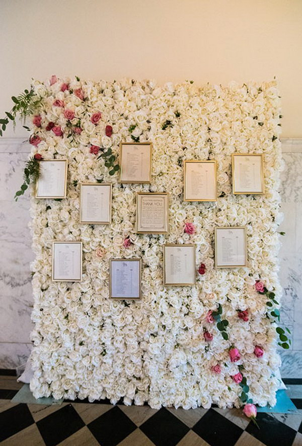 Stunning Flower Ceremony Photo Booth Backdrop