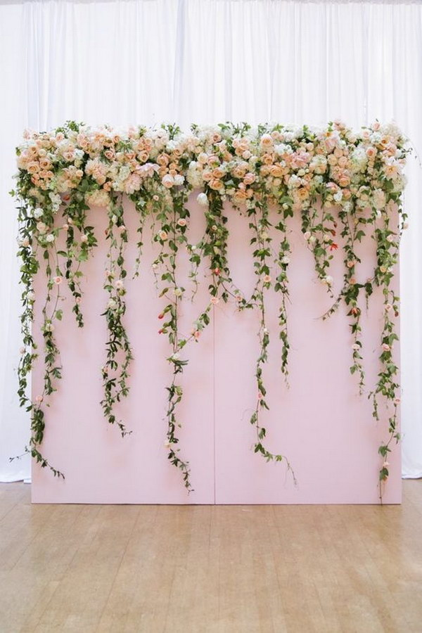 Indoor Flower Wedding Photo Booth Backdrop