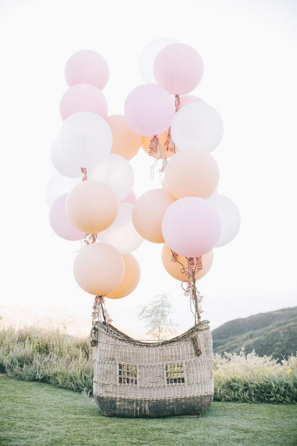 Hot Air Balloon Basket Photo Booth