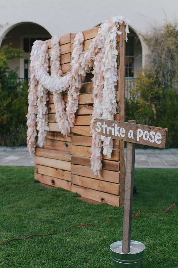 Rustic Chic Pallet Backdrop