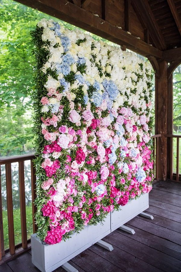 Gorgeous Flower Wall Photo Booth Backdrop