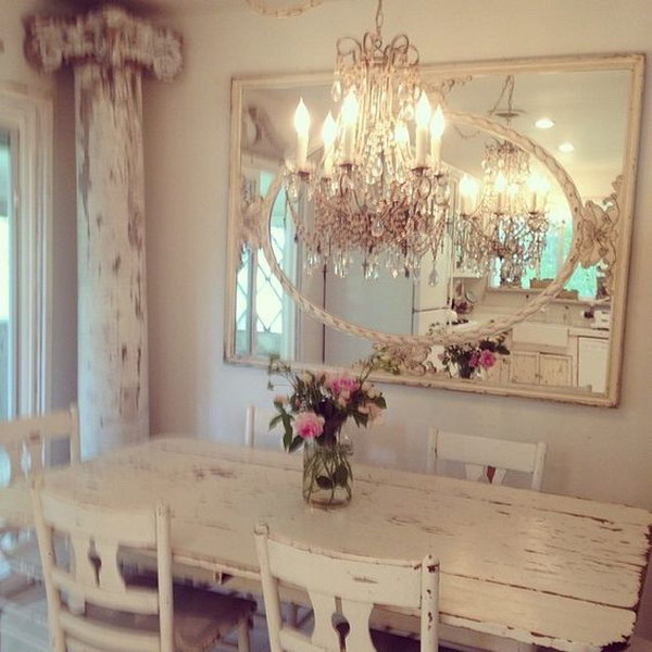 Elegant Chandelier and Mirror.