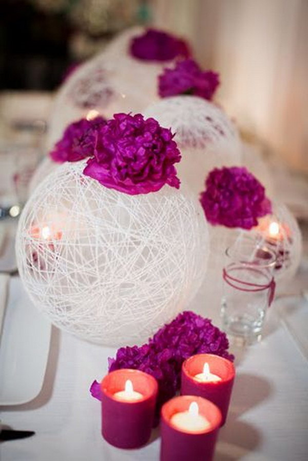 String Spheres Centerpieces
