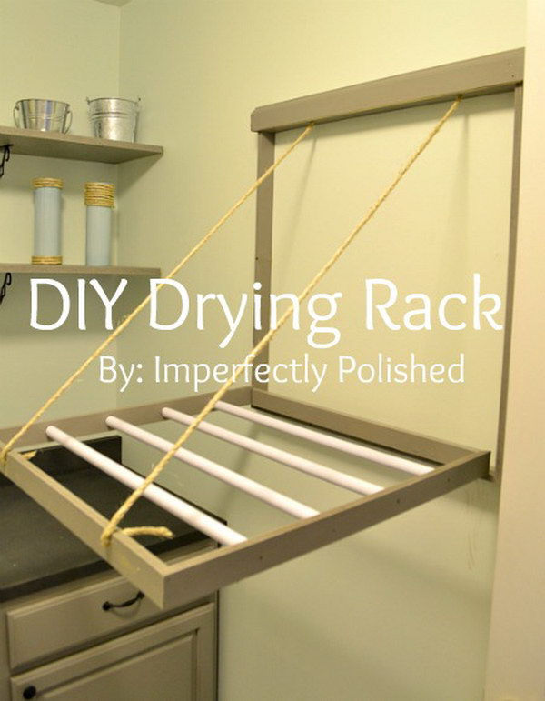 This DIY drying rack would be great especially if your laundry room is small.