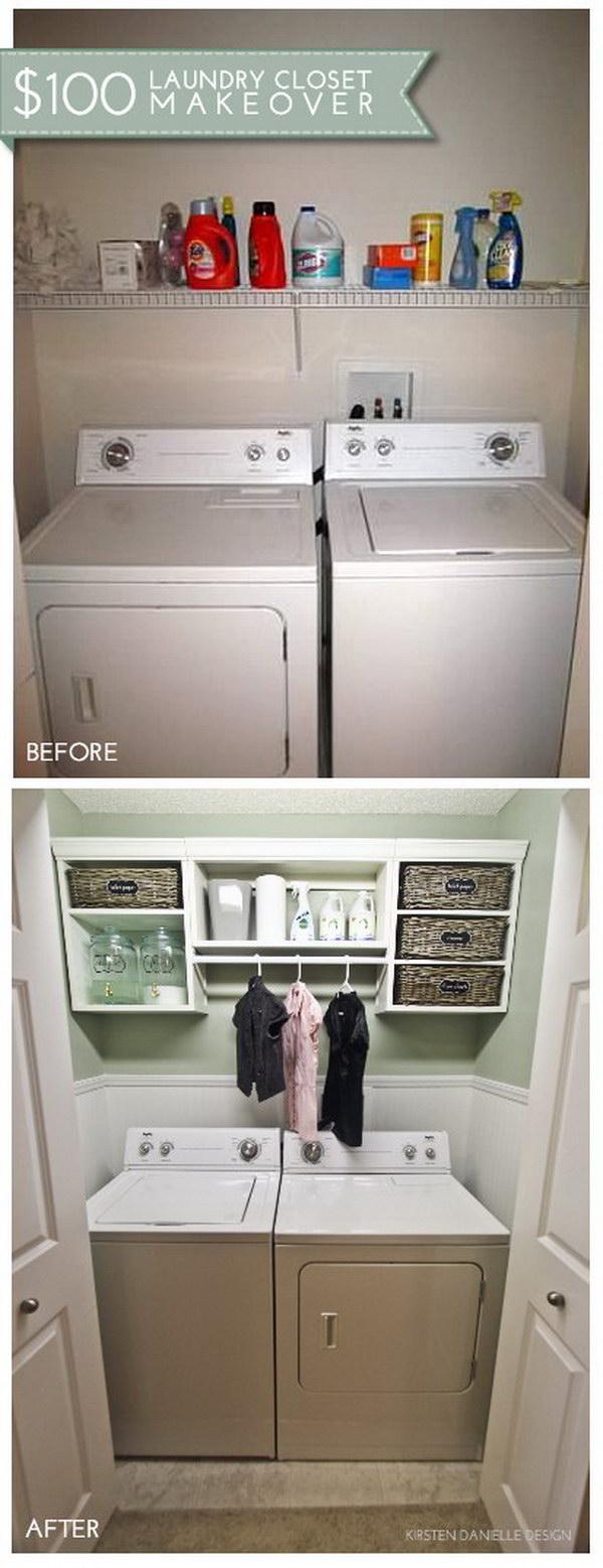 Laundry Closet Makeover.